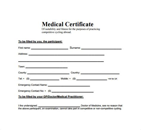 medical certificate template stationary templates pinterest