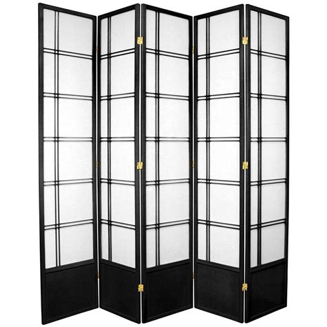 7ft room divider 7 ft black 5 panel room divider 84 dc blk 5p the home depot