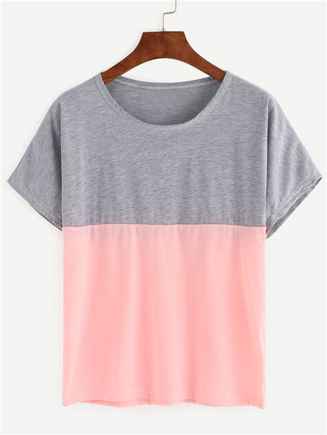 color block t shirt color block t shirt shein sheinside