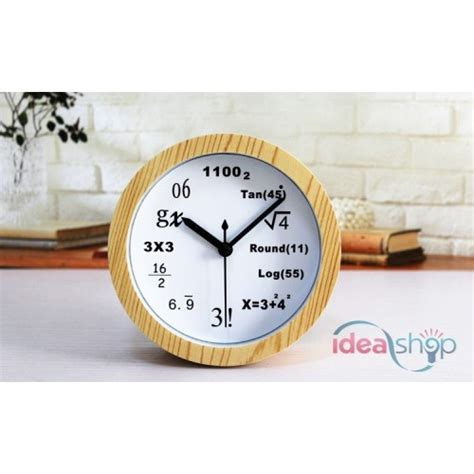 Alarm Ekarion mathematical formula wooden silent table alarm clock
