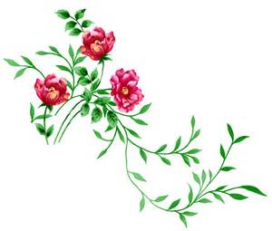 red floral clipart 34