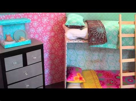 how to make a barbie bed how to make doll bunk beds easy youtube