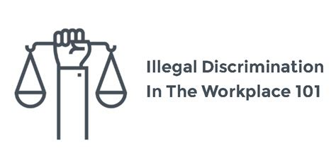 illegal discrimination in the workplace labor guides