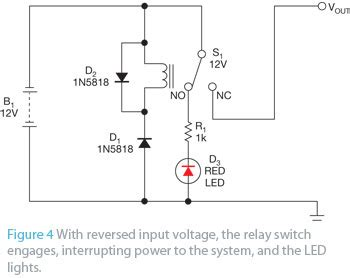 function of diode in relay circuit simple polarity protection circuit has no voltage drop edn