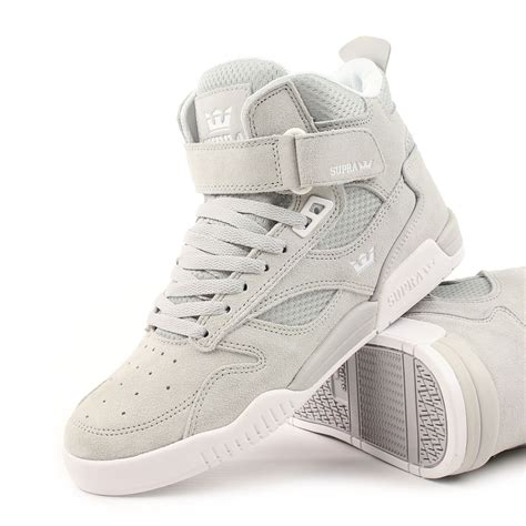 supra shoes bleeker high top light grey white ebay