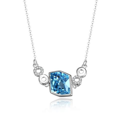 Irregular Circle Necklace sterling silver irregular blue geometry