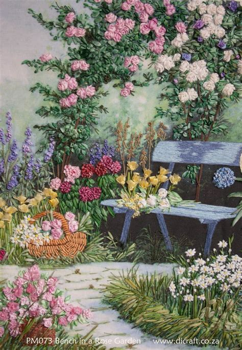 ribbon embroidery flower garden 25 best ideas about ribbon work on ribbon