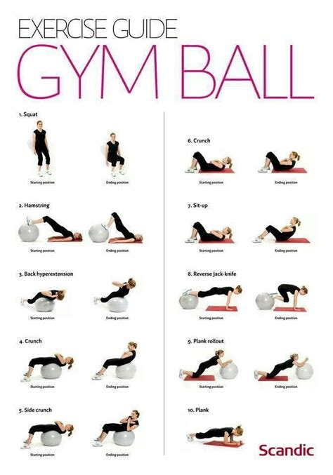 printable exercise ball routines 175 best images about stability ball on pinterest new