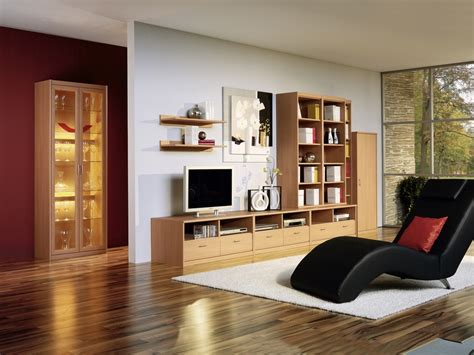 Wooden Cabinets For Living Room by Living Room With Chaiselounge And Wood