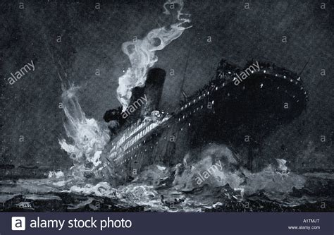 sinking of the rms titanic rms titanic of the white star line sinking around 2 20 am