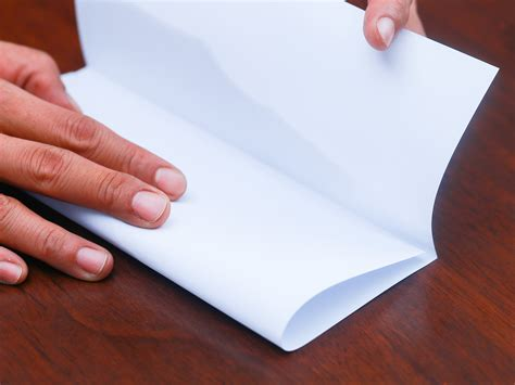 How To Fold A Of Paper Into A Card - 5 ways to fold a paper into thirds wikihow