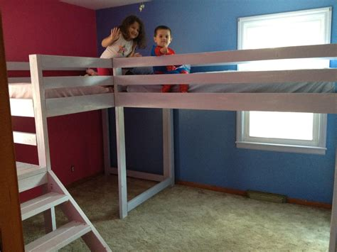 Lofting A Bed by White Loft Beds With Platform Diy Projects
