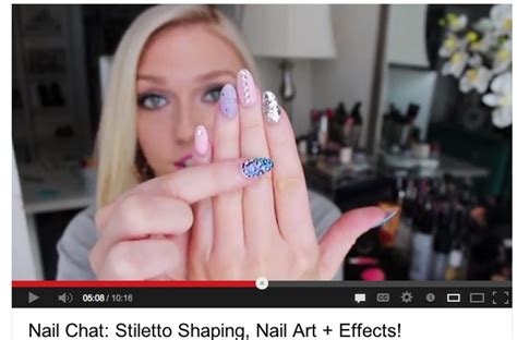 tutorial nails youtube stiletto nails how to 8 youtube tutorials stylecaster