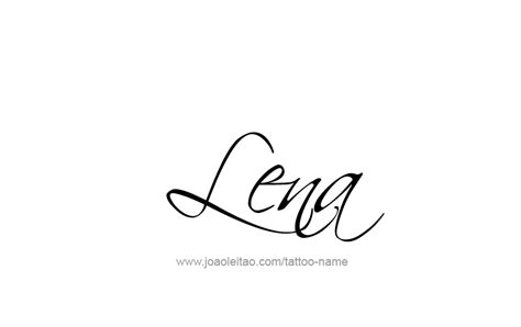 lena name tattoo designs