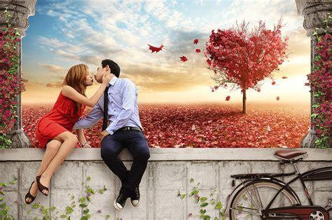 couple editing wallpaper romantic photo manipulation inspired www psdbox com