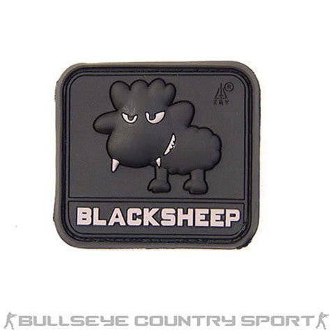 Patch Pacth Rubber Tactical Velcro Airsoft Target rubber patch black sheep pvc swat black
