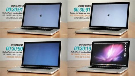 Update Macbook Pro compuram performance test hdd vs ssd vs ram upgrade macbook pro 15 inch late 2008