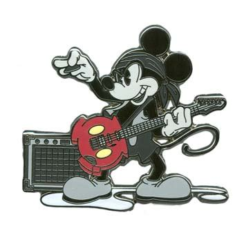 Rok Buntung Onde Mickey Mouse Your Wdw Store Disney Mickey Pin Rock Guitarist