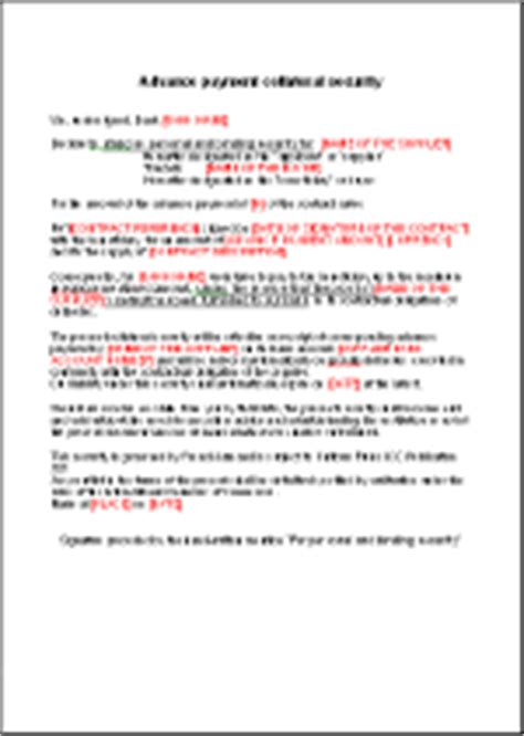 Bank Guarantee Letter For Advance Payment Advance Payment Conditional Bank Guarantee En