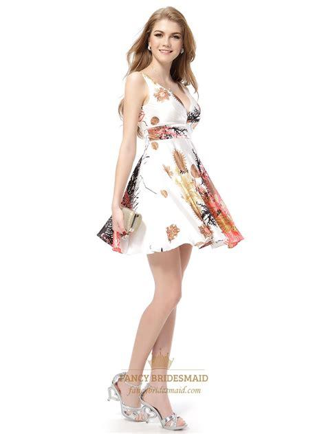 Floral V Neck Skater Dress floral print skater dress next white floral print summer