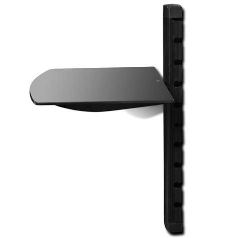 mensola nera articoli per mensola di vetro montaggio a muro per dvd