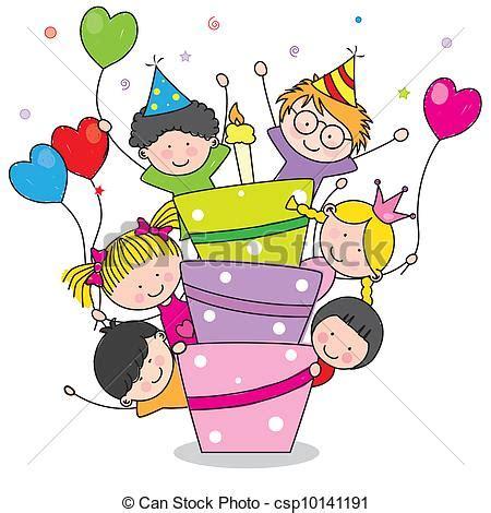 clipart compleanno bambini vettori eps di compleanno scheda bambini compleanno