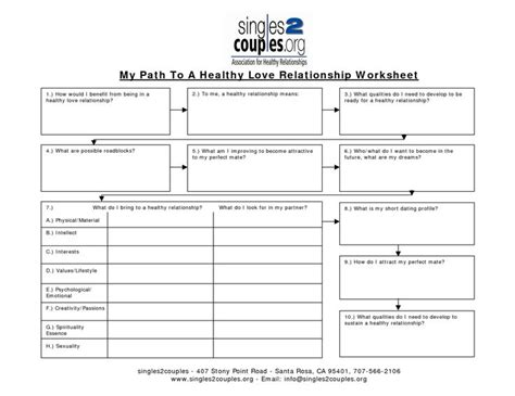 Healthy Relationships Worksheets by Stopped In Your Relationship Healthy