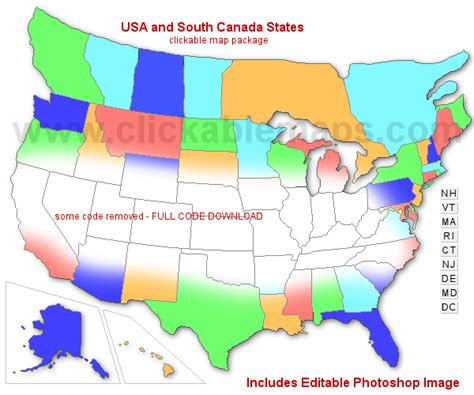 map usa south clickable map of usa south canada