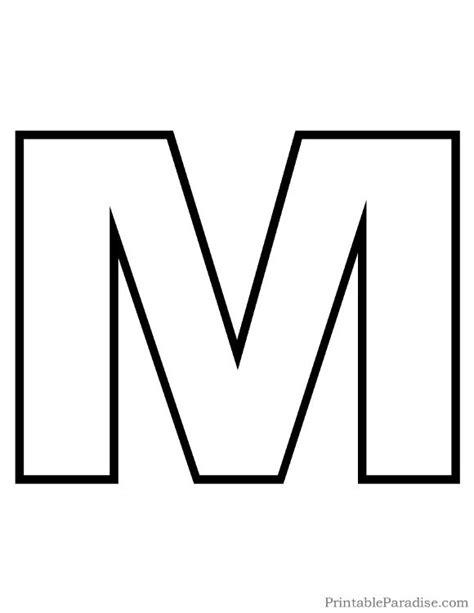 Printable Letter M Outline - Print Bubble Letter M ... M