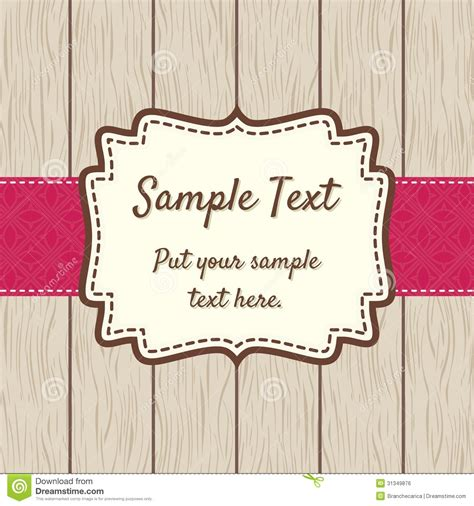 Vintage Style Photo Cards Template by Retro Greeting Card Template Design Royalty Free Stock