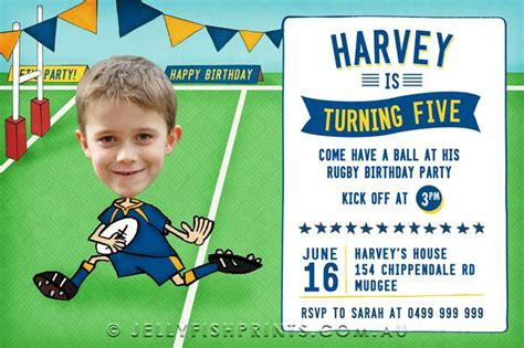 printable rugby birthday invitations 100 best images about rugby league party on pinterest