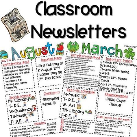 Parent Newsletter 25 Best Ideas About Kindergarten Newsletter On Weekly Classroom Newsletter Parent