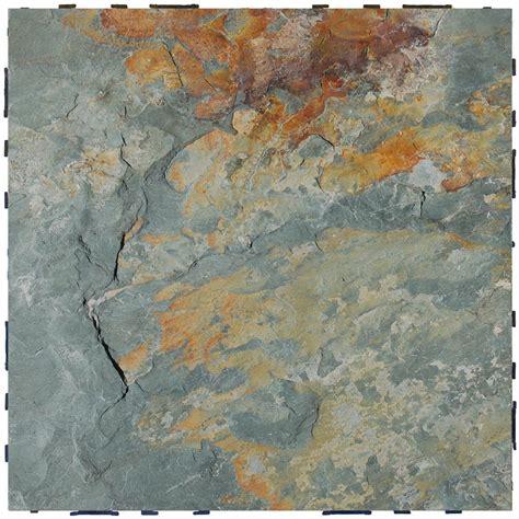 vifah rustic blend slate interlocking deck tiles 495947