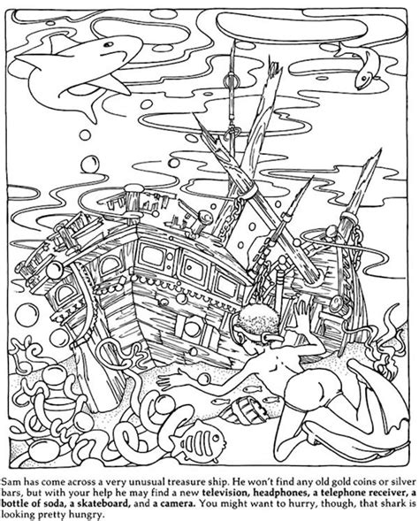 dover hidden objects coloring page kids all ages