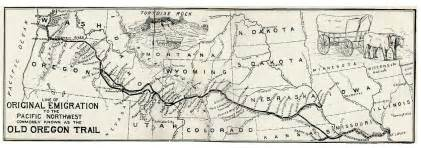 The Oregon Trail Map by Mormon Trail Among My Branches