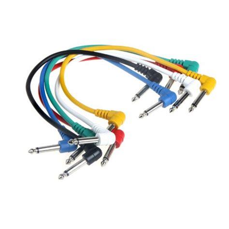 Kabel Jumper Efek Gitar Patch Kabel ammoon guitar patch cables angled set of 6pcs colorful for