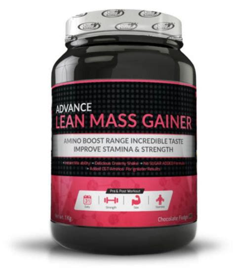 best lean mass gainer advance lean mass gainer 1kg chocolate buy advance lean