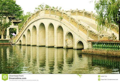 Chinese Arch Bridge China Stock Photo Image 48367724 Bridge Traditional