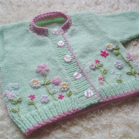 Handmade Personalized Knitted - knit baby cardigan