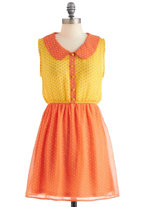 Pretty Dresses citrus pretty dress mod retro vintage dresses modcloth