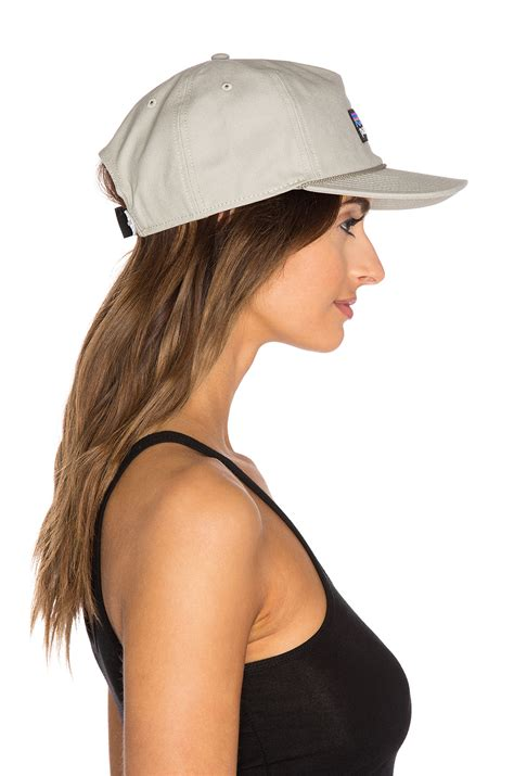 up hat patagonia p label stand up hat in gray lyst
