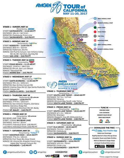 tour of california map february 1 2017 cycling news by bikeraceinfo