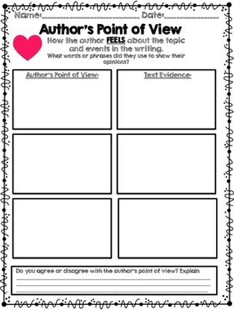 printable graphic organizer for author s purpose author s point of view graphic organizers authors and