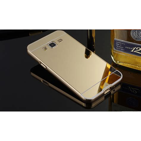 Aluminium Bumper With Mirror Back Cover For Samsung Gal Murah 1 aluminium bumper with mirror back cover for samsung galaxy j2 2015 golden jakartanotebook