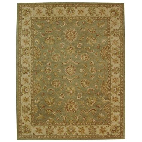 9 X 11 Area Rug Safavieh Antiquity Green Gold 8 Ft 3 In X 11 Ft Area Rug At313a 9 The Home Depot