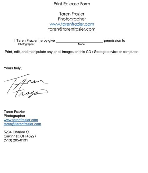 Release Letter For Photography Print Release Jpeg