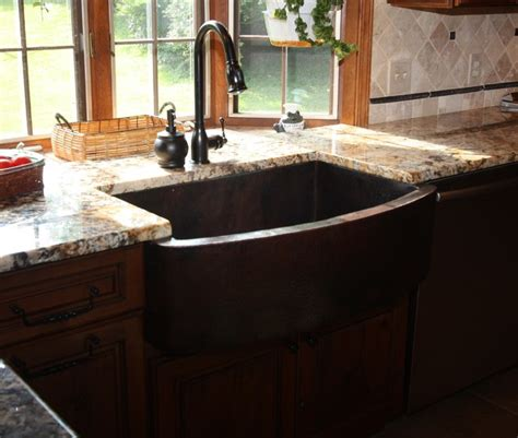 bowed apron sink traditional kitchen sinks cleveland