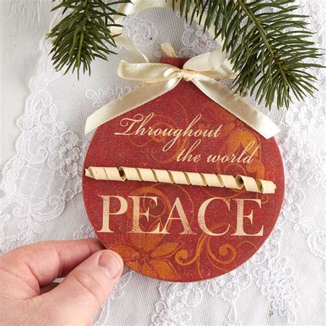 quot throughout the world quot christmas ornament on sale