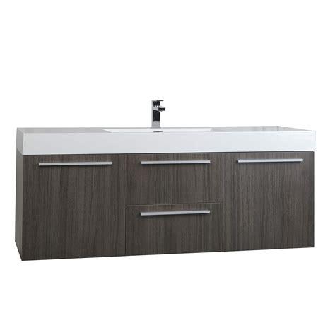 grey oak bathroom vanity buy 59 inch wall mount contemporary bathroom vanity in