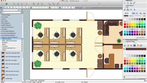 free layout office layout software create great looking office plan